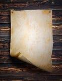 Hoja vieja del papel Fotografía de archivo