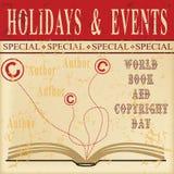 Hoja vieja para el día de Copyright del mundo libre illustration