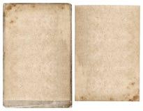 Hoja y cartulina de papel usadas Fondo texturizado envejecido Imagen de archivo