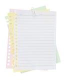 Hoja y clip de papel Foto de archivo libre de regalías