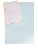 Hoja y clip de papel Imagenes de archivo