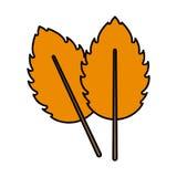 Hojas anaranjadas del icono dos Imagen de archivo libre de regalías