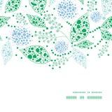 Hojas azules del vector y verdes abstractas horizontales Imágenes de archivo libres de regalías