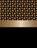 Hojas bicolores del diseño y cinta de oro Imagen de archivo