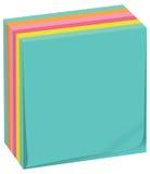 Hojas cúbicas coloreadas stock de ilustración