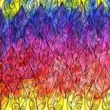 Hojas coloridas de la textura de la acuarela Fotos de archivo libres de regalías