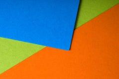 Hojas coloridas del papel Imágenes de archivo libres de regalías