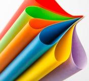 Hojas coloridas del papel del color, fondo abstracto Fotografía de archivo