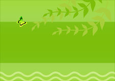 Hojas con la mariposa stock de ilustración