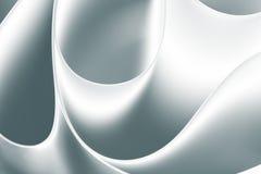 Hojas curvadas macro blanca negra del papel Fotos de archivo libres de regalías