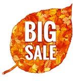 Hojas de Autumn Sales Banner With Colorful EPS 10 Foto de archivo libre de regalías