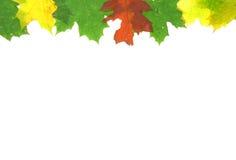 Hojas de la caída del otoño - marco Fotografía de archivo