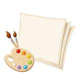 Hojas de la paleta y del papel del arte Ilustración del vector Fotos de archivo