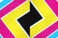 Hojas de los colores triangulares. Imagen de archivo libre de regalías