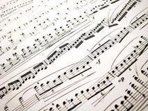 Hojas de música Fotografía de archivo