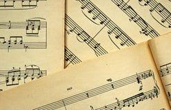 Hojas de música Imagen de archivo