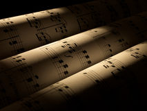 Hojas de música Imagenes de archivo