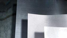 Hojas de metal almacen de video