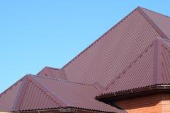 Hojas de metal del tejado foto de archivo libre de regalías