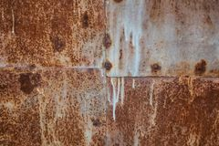 Hojas de metal oxidadas soldadas con autógena Fondo industrial imágenes de archivo libres de regalías