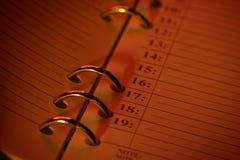 Hojas de operación (planning) Imagen de archivo libre de regalías