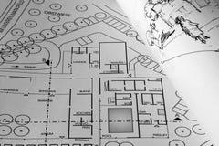 Hojas de operación (planning) Fotografía de archivo