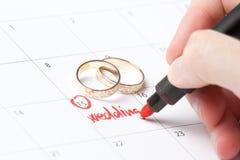 Hojas de operación (planning) de la boda Imagenes de archivo