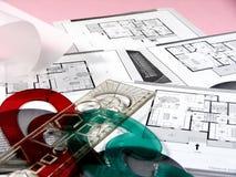 Hojas de operación (planning) de la configuración Fotografía de archivo libre de regalías