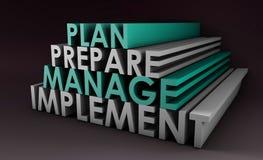 Hojas de operación (planning) de la gerencia Imagen de archivo libre de regalías