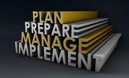 Hojas de operación (planning) de la gerencia stock de ilustración