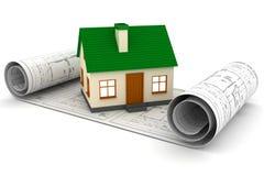 Hojas de operación (planning) de las propiedades inmobiliarias Fotografía de archivo