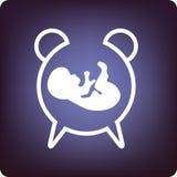 Hojas de operación (planning) del bebé Fotos de archivo libres de regalías