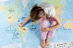 Hojas de operación (planning) del recorrido Imagen de archivo libre de regalías