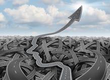 Hojas de operación (planning) y estrategia del éxito stock de ilustración