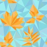 Hojas de otoño del estilo del triángulo Imagen de archivo libre de regalías