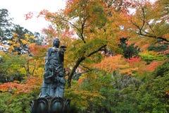 Hojas de otoño del templo de Natadera Kanazawa Japón imagen de archivo