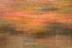 Hojas de otoño en el movimiento Imagen de archivo