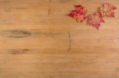 Hojas de otoño en la encimera Fotografía de archivo libre de regalías