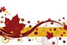 Hojas de otoño en rojo stock de ilustración