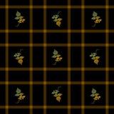 Hojas de otoño inconsútiles de la tela escocesa Foto de archivo libre de regalías