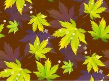Hojas de otoño, modelo inconsútil, fondo del vector foto de archivo libre de regalías