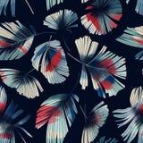 hojas de palma Rojo-blancas Fotos de archivo