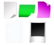 Hojas de papel Fotos de archivo