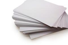 Hojas de papel fotografía de archivo libre de regalías