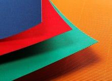 hojas de papel coloreadas Foto de archivo