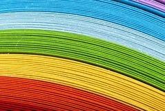 Hojas de papel coloridas en blanco Imagen de archivo libre de regalías