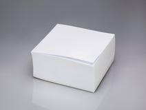 Hojas de papel de la casilla blanca Foto de archivo