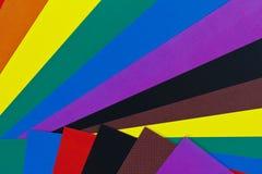 Hojas de papel del color Fotografía de archivo libre de regalías