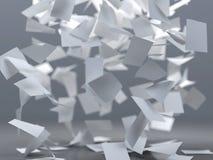 Hojas de papel del vuelo Imagenes de archivo