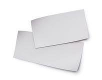 Hojas de papel en blanco blancas Fotografía de archivo libre de regalías